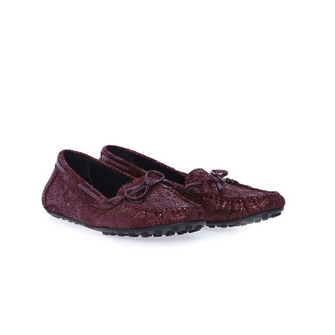 BORDO KADIN DERİ LOAFER