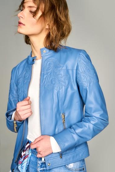 Mavi Diana-2 Kadın Mavi Deri Ceket 5637561336