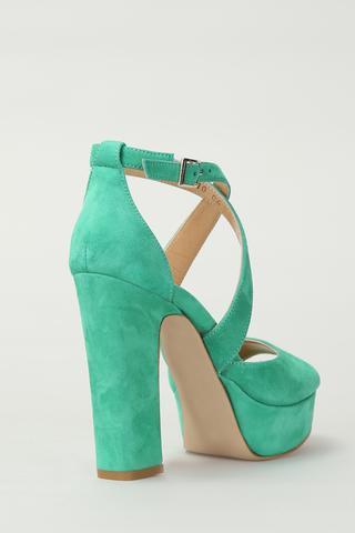 Süet Kadın Deri Topuklu Ayakkabı