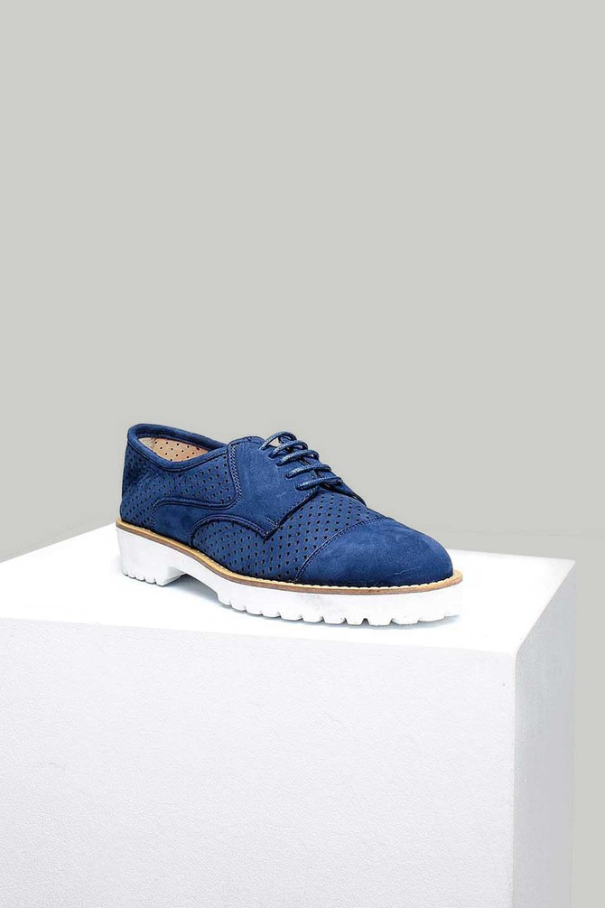Lacivert Nubuk Kadın Ayakkabı 5637871459