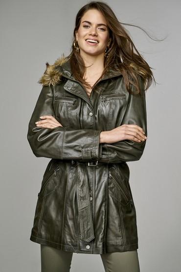 Yeşil Celebrity-2 Kadın Deri Ceket 5637417698
