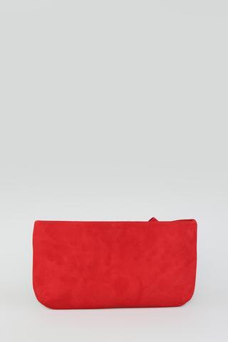 Kırmızı Süet Kadın Deri Portföy