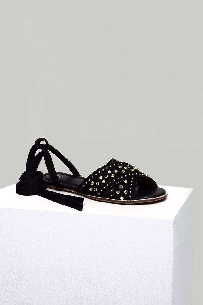 Siyah Süet Kadın Sandalet 5637830083