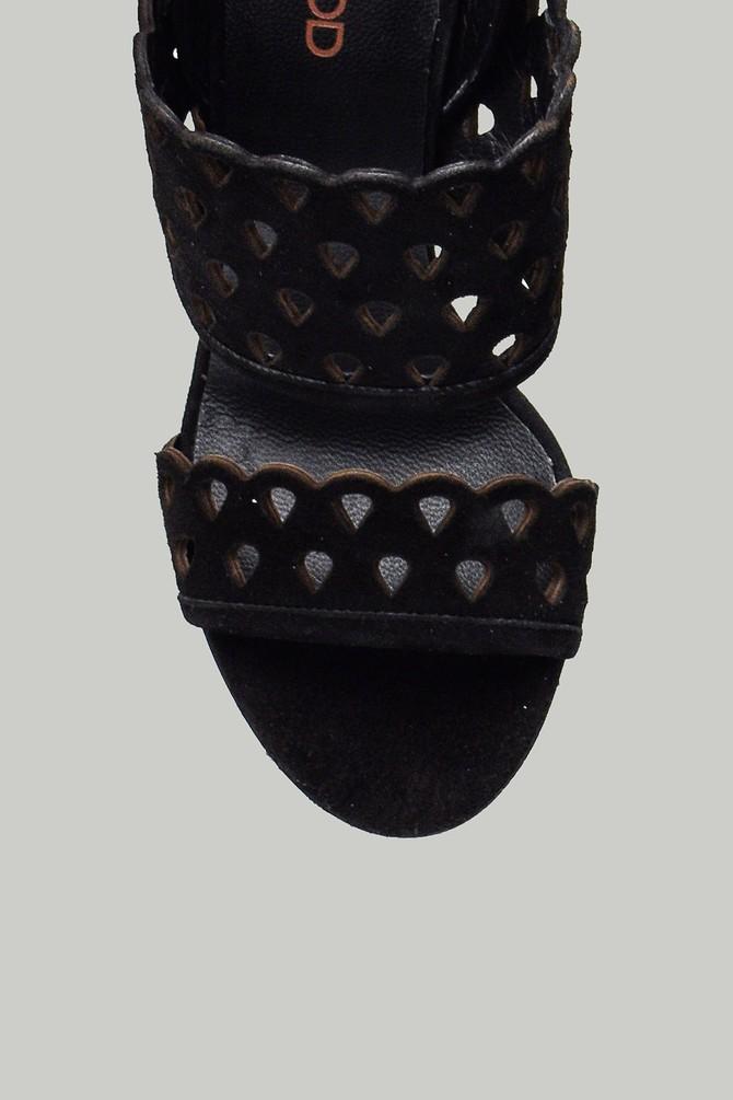 5637846675 Süet Kadın Topuklu Deri Sandalet
