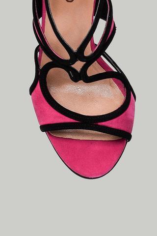 Süet Kadın Topuklu Sandalet