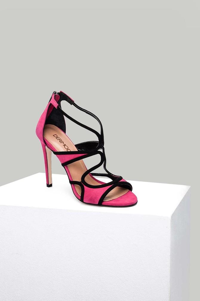 5637875421 Süet Kadın Topuklu Sandalet
