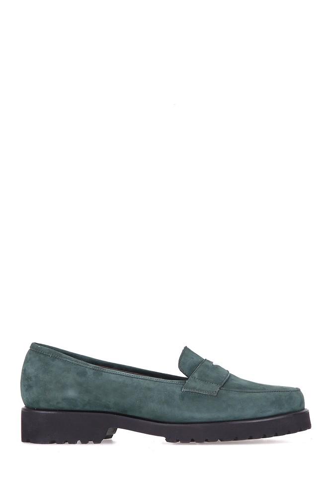 Yeşil Kadın Süet Ayakkabı 5637925716