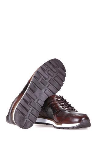 Kroko Desenli Erkek Deri Sneaker
