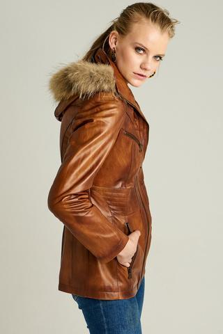 Rio Kadın Deri Ceket