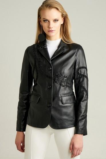 Siyah Sevilla Kadın Deri Ceket 5637972750