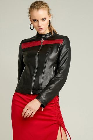 Rapsodi Kadın Deri Ceket