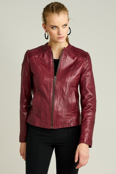 5637916011 Glam Kadın Deri Ceket