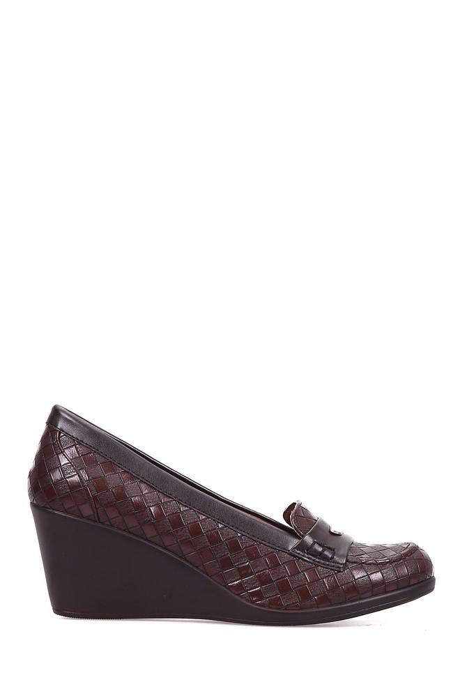 Kahverengi Kadın Dolgu Topuklu Ayakkabı 5637891804