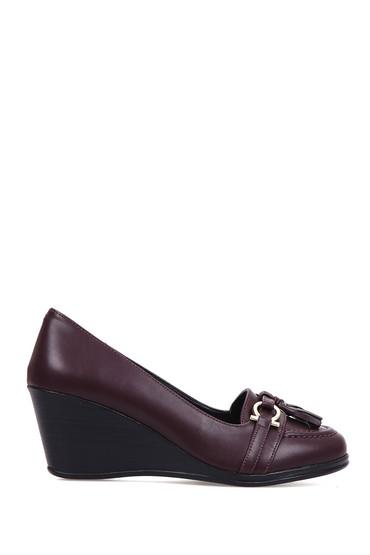5637891823 Kadın Püskül Detaylı Dolgu Topuklu Ayakkabı