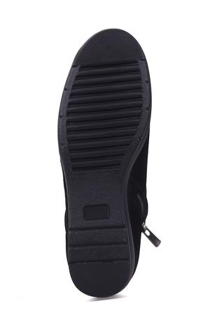 Dolgu Topuklu Kadın Süet Ayakkabı