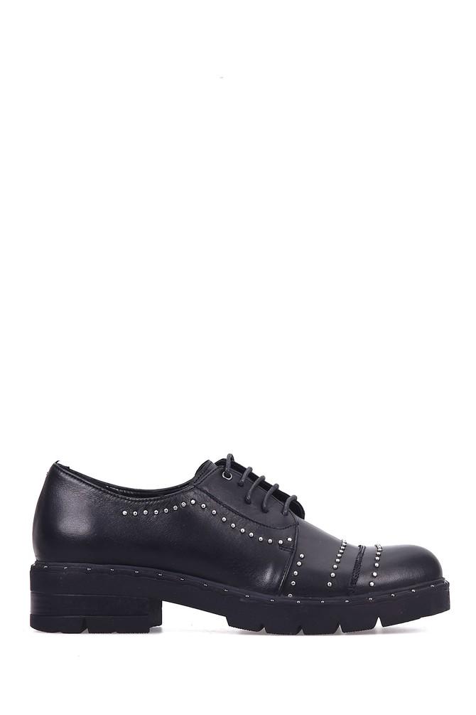 5637916873 Zımbalı Kadın Deri Ayakkabı