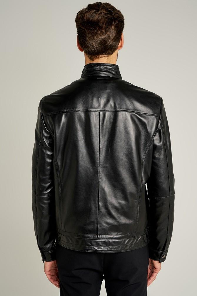 5637528811 New Hugo Erkek Deri Ceket