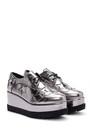 5637936032 Kadın Yüksek Tabanlı Gümüş Sneaker
