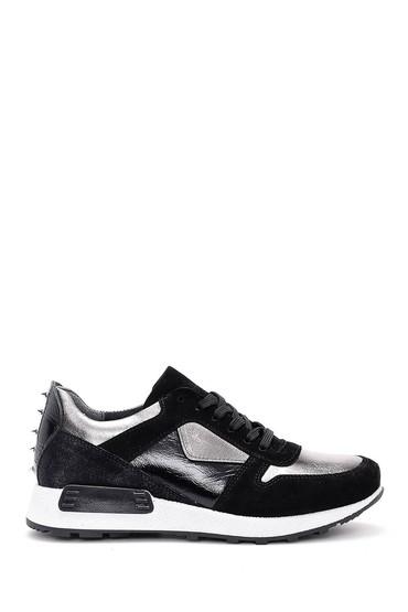 5637934100 Kadın Gümüş Detaylı Sneaker