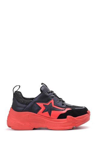 Kadın Yıldız Desenli Sneaker