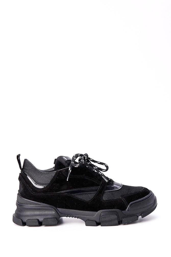 Siyah Kadın Süet Sneaker 5638030236