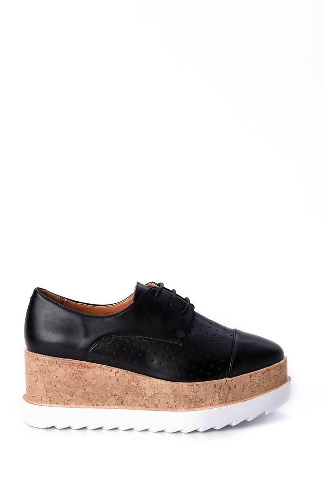 Siyah Kadın Yüksek Tabanlı Sneaker 5638018248