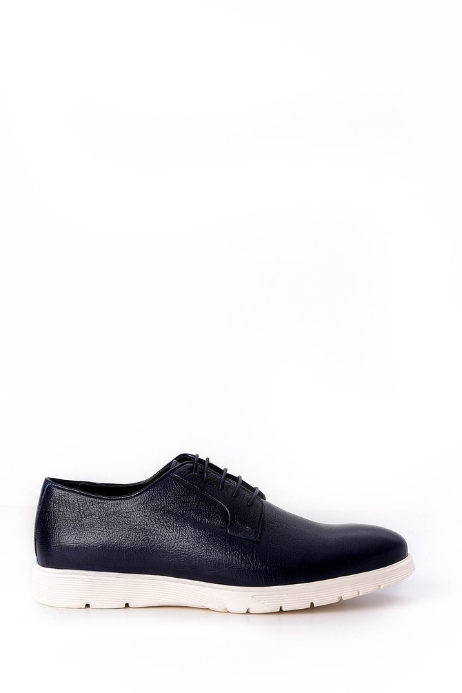 Lacivert Erkek Bağcıklı Deri Ayakkabı 5638018766