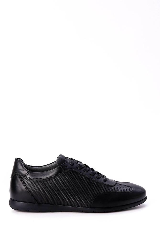 Siyah Erkek Bağcıklı Deri Ayakkabı 5638018830