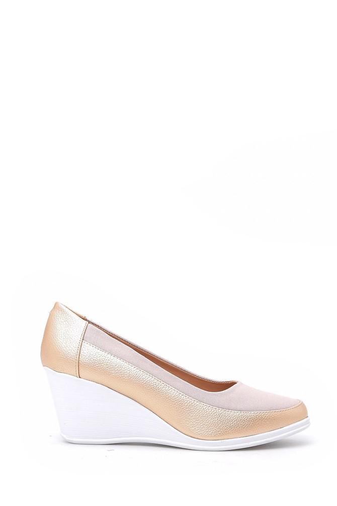 Bej Kadın Dolgu Topuklu Ayakkabı 5638018171