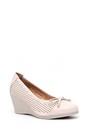 5638018076 Kadın Dolgu Topuklu Fiyonklu Ayakkabı