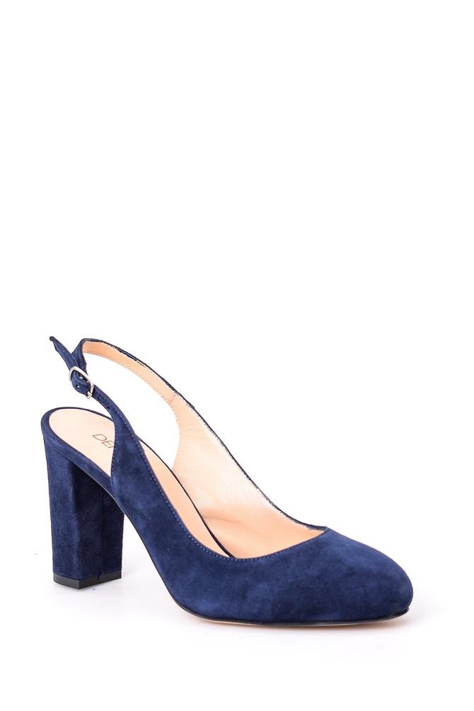5638026499 Kadın Süet Topuklu Ayakkabı