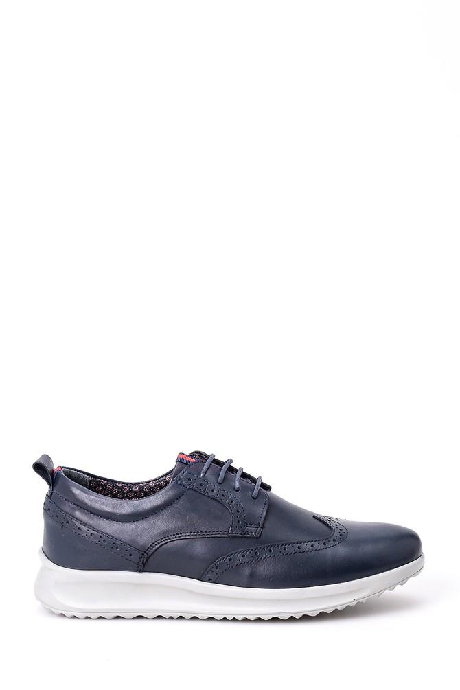 Lacivert Erkek Deri Sneaker 5638008718