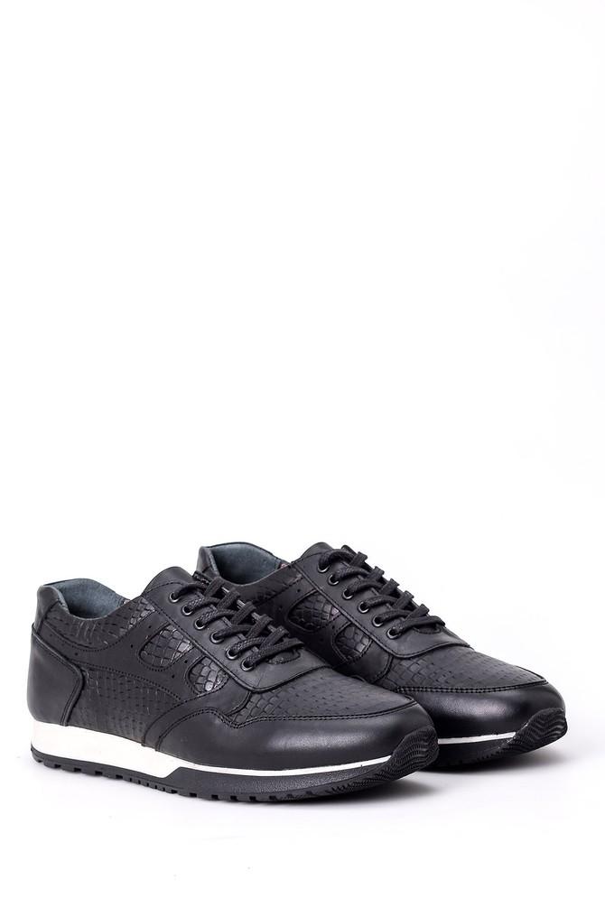 5638008767 Erkek Kroko Detaylı Sneaker