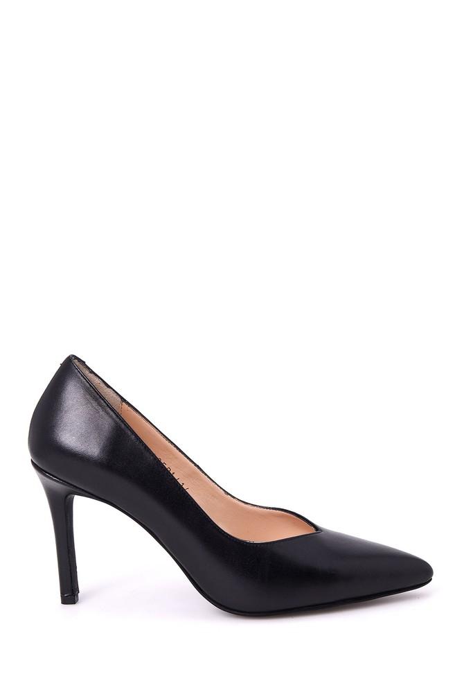 Siyah Kadın Deri Stiletto 5638039340