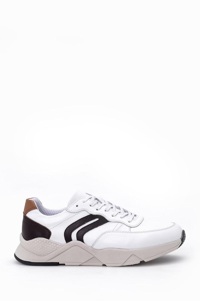 Beyaz Erkek Deri Sneaker 5638029819
