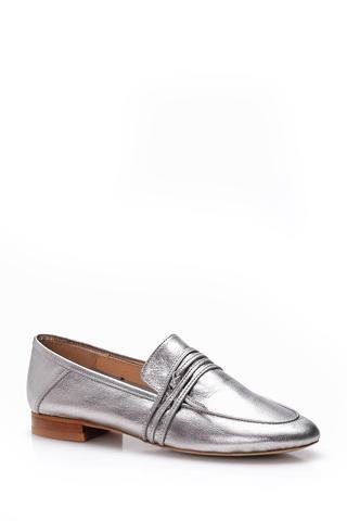 Kadın Gümüş Loafer