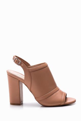 Kadın Burnu Açık Topuklu Ayakkabı
