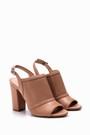 5638039501 Kadın Burnu Açık Topuklu Ayakkabı