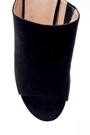 5638015676 Kadın Süet Metal Topuk Detaylı Terlik