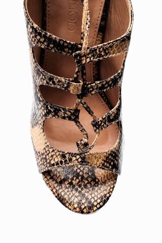 Kadın Kroko Desenli Topuklu Terlik