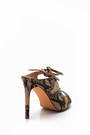 5638015710 Kadın Kroko Desenli Topuklu Terlik
