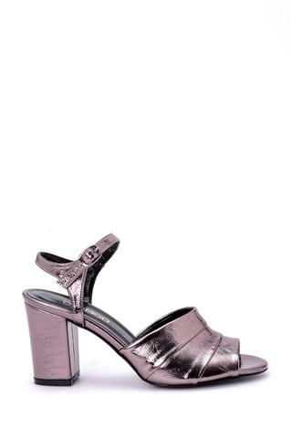 Kadın Gümüş Topuklu Ayakkabı