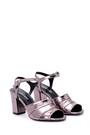 5638049975 Kadın Gümüş Topuklu Ayakkabı