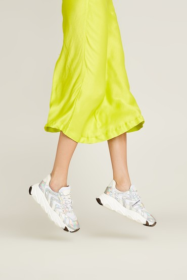 Beyaz Kadın Gümüş Sneaker 5638055731