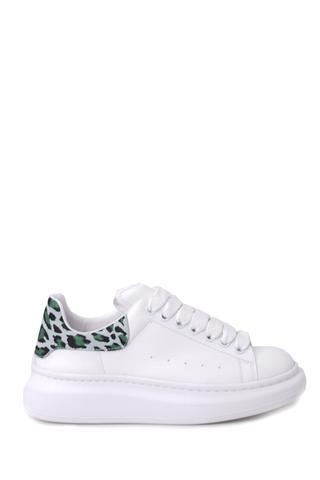 Kadın Leopar Detaylı Sneaker