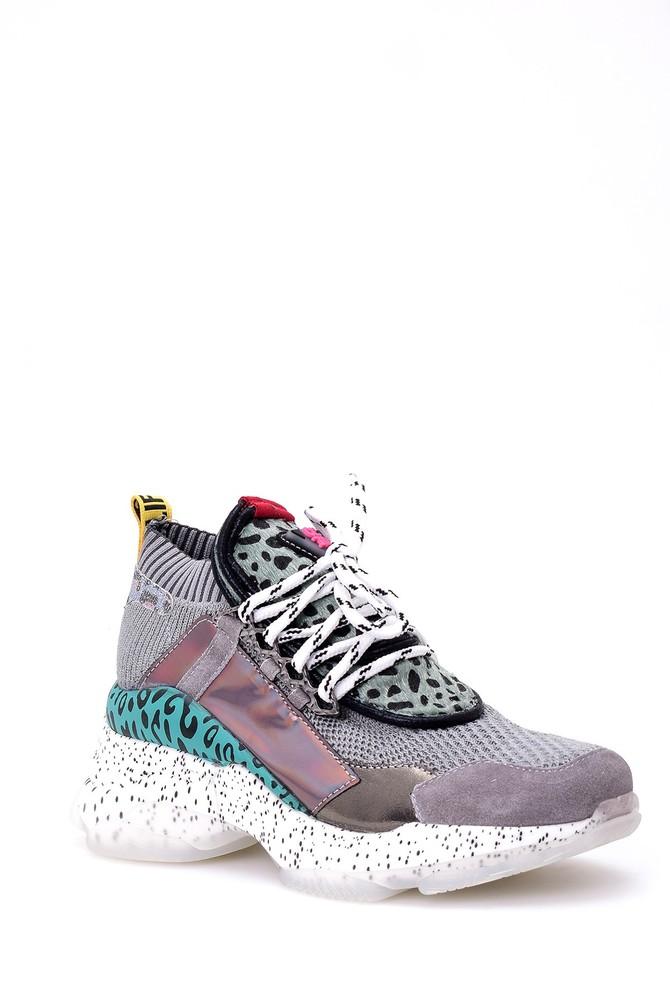 5638058026 Kadın Leopar Detaylı Sneaker