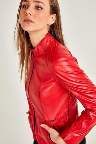 Riva Kadın Deri Ceket