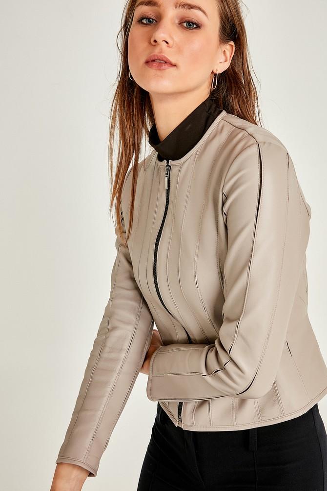 5638055587 Lady Kadın Deri Ceket
