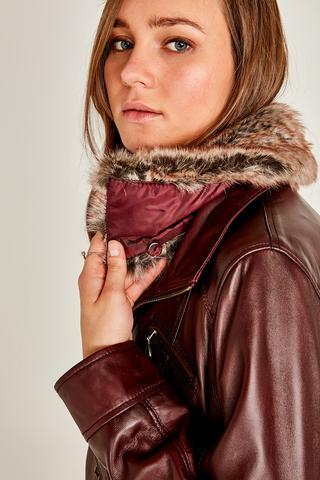 Mira (Plus) Kadın Deri Ceket