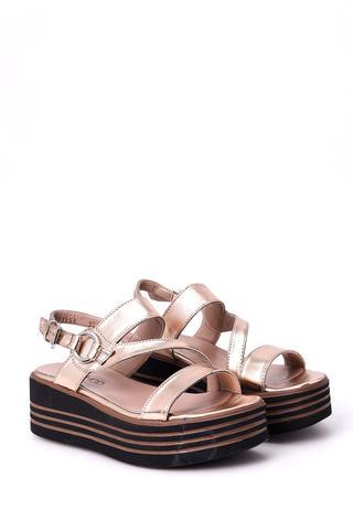 Kadın Dolgu Topuklu Sandalet